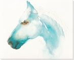 Caribbean Blue Horse Wrapped Canvas Giclee Print Wall Art