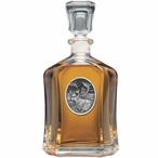 Caribou Capitol Glass Decanter with Pewter Accents