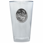 Caribou Pint Beer Glasses with Pewter Accent, Set of 2