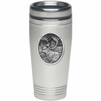 Caribou Stainless Steel Travel Mug with Pewter Accent