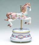 Carousel Horse Musical Music Box Sculpture