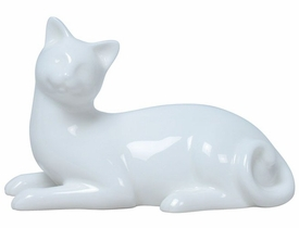Cat Enjoying Life Sculpture