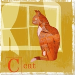 Cat Friend Wrapped Canvas Giclee Print Wall Art