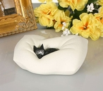 Cat Sleeping on Pillow Statue by Albert Dubout