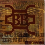 Cattle Brand 4 Wrapped Canvas Giclee Print Wall Art