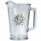 Celestial Glass Pitcher with Pewter Accent
