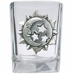 Celestial Pewter Accent Shot Glasses, Set of 4