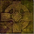 Celtic Cross 4 Wrapped Canvas Giclee Print Wall Art