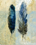 Center Feathers Wrapped Canvas Giclee Print Wall Art