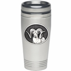 Chadwick Ram Stainless Steel Travel Mug with Pewter Accent