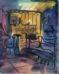 Chair Study 2 Wrapped Canvas Giclee Print Wall Art