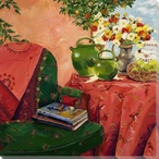 Chair with Shawl Wrapped Canvas Giclee Print Wall Art