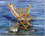 Chairs & Clam Shells Wrapped Canvas Giclee Print Wall Art