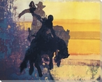 Champagne Bronco Rider Wrapped Canvas Giclee Print Wall Art