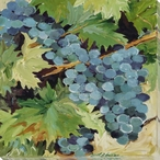Chardonnay Grapes Wrapped Canvas Giclee Print Wall Art