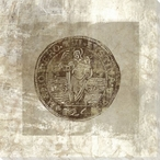 Charles II Petition Crown Coin Back Wrapped Canvas Giclee Print