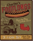 Charley's Footlongs Wrapped Canvas Giclee Print Wall Art