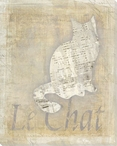 Chat Trois Cat Wrapped Canvas Giclee Print Wall Art
