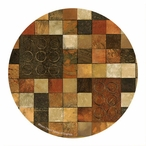 Checker Variation I Sandstone Round Coasters by Norm Olson, Set of 8