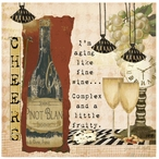 Cheers Absorbent Beverage Coasters by Grace Pullen, Set of 12