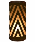 Chevron Metal Cylinder Pillar Table Lamp