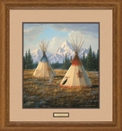 Cheyenne Village Teepees Framed Art Print Wall Art