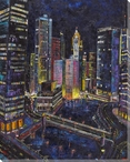 Chicago Wrapped Canvas Giclee Print Wall Art
