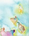 Chick Birds 2 Wrapped Canvas Giclee Print Wall Art