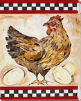Chicken Bird with Her Eggs Wrapped Canvas Giclee Print Wall Art