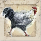 Chicken Scratch Bird Two Wrapped Canvas Giclee Print Wall Art