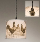 Chickens Canvas Pendant Lamp Light