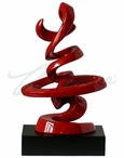 """Chinese Calligraphy """"Happiness"""" Sculpture"""