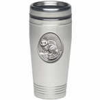 Chipmunk Stainless Steel Travel Mug with Pewter Accent