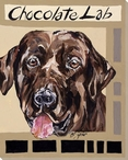 Chocolate Lab Dog Wrapped Canvas Giclee Print Wall Art