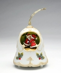 Christmas Bell with Santa and Mrs. Claus Musical Music Box Sculpture
