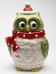 Christmas Owl Cookie Jar by Laurie Furnell