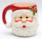 Christmas Santa Mugs by Laurie Furnell, Set of 4