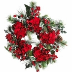 Silk Christmas Wreaths