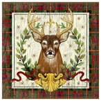 Christmas Stag Deer Vintage Style Wooden Sign
