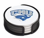 Christopher Newport Captians Beverage Coasters with Holders, Set of 10