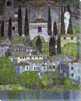 Church at Cassone Wrapped Canvas Giclee Print Wall Art