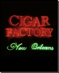 Cigar Factory Neon Sign Wrapped Canvas Giclee Print Wall Art