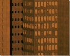 City Patterns Downtown Cityscape Wrapped Canvas Giclee Print
