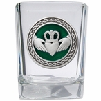 Claddagh Green Pewter Accent Shot Glasses, Set of 4