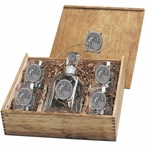 Classic Golfer Capitol Decanter & DOF Glasses Box Set with Pewter