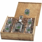Classic Golfer Green Capitol Decanter & DOF Glasses Box Set w/ Pewter