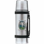 Classic Golfer Green Stainless Steel Thermos with Pewter Accent