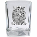Classic Golfer Pewter Accent Shot Glasses, Set of 4