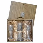 Classic Golfer Pilsner Glasses & Beer Mugs Box Set with Pewter Accents