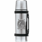 Classic Golfer Stainless Steel Thermos with Pewter Accent